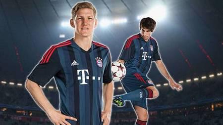 [流言板]拜仁发布新赛季欧冠战袍,底色为蓝色图片