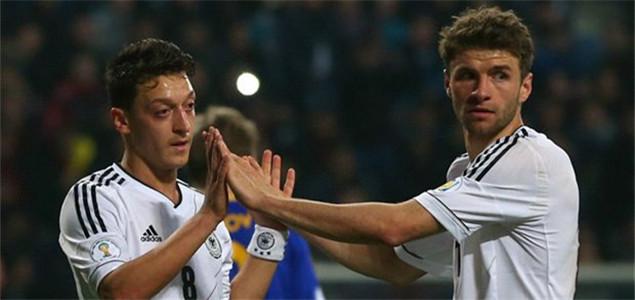 贝利:最担心德国队阵中的厄齐尔和穆勒
