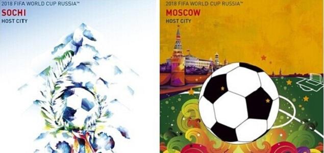 俄罗斯发布2018世界杯举办城市海报