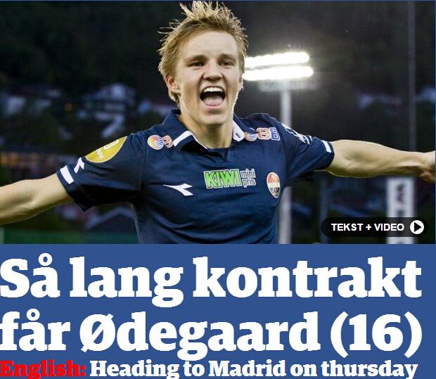 曝皇马本周四宣布挪威新星加盟,签约6年