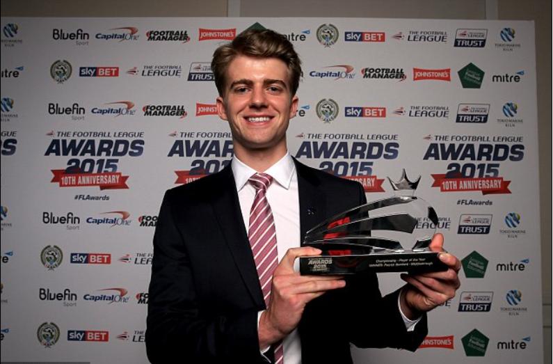 蓝军外租小将巴姆福德获封英冠年度最佳球员