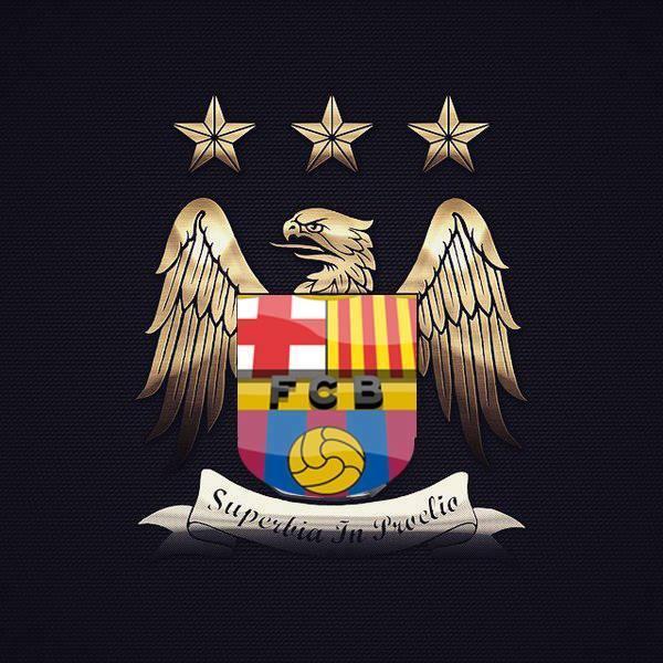 巴萨眼中曼城的新队徽.
