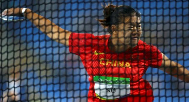 女子铁饼决赛:中国选手分获五、七、八名