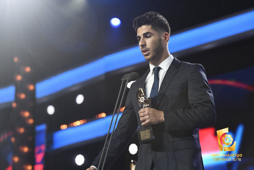 官方:阿森西奥荣获西甲上赛季最佳新人奖