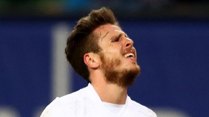 乐极生悲?汉堡边锋穆勒庆祝进球时受伤被换下