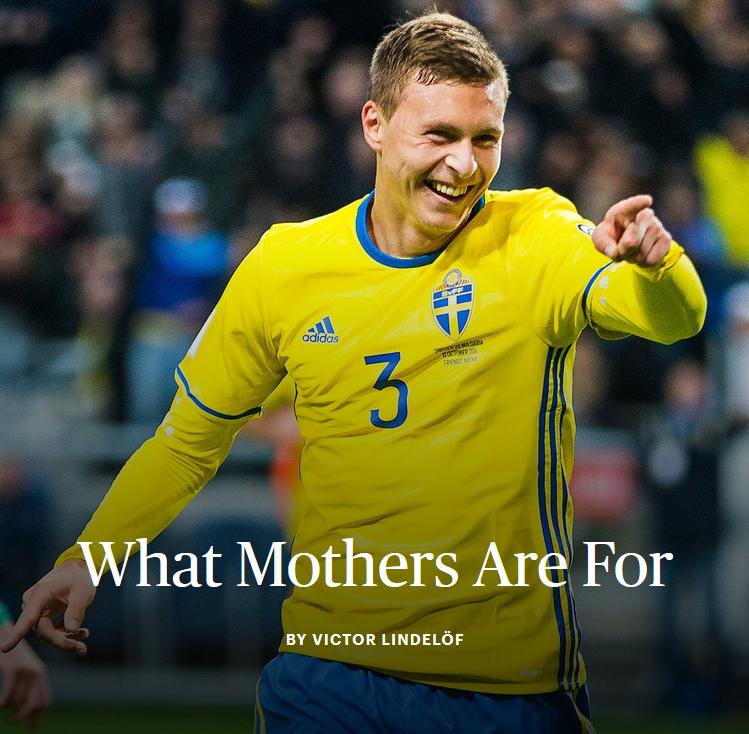 林德勒夫亲笔:我出生的那天起,母亲就相信我可以成为职业球员