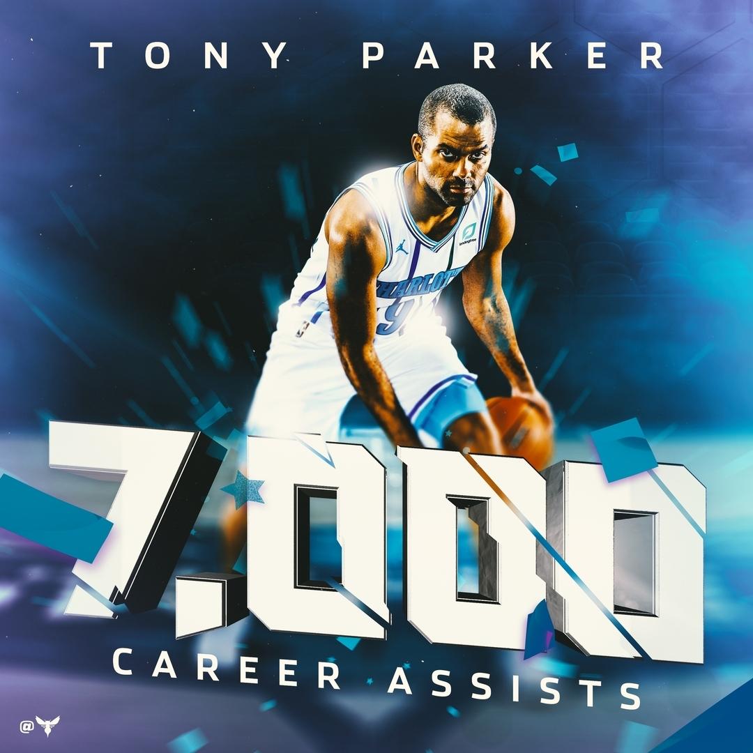 托尼-帕克职业生涯常规赛总助攻数达到7000