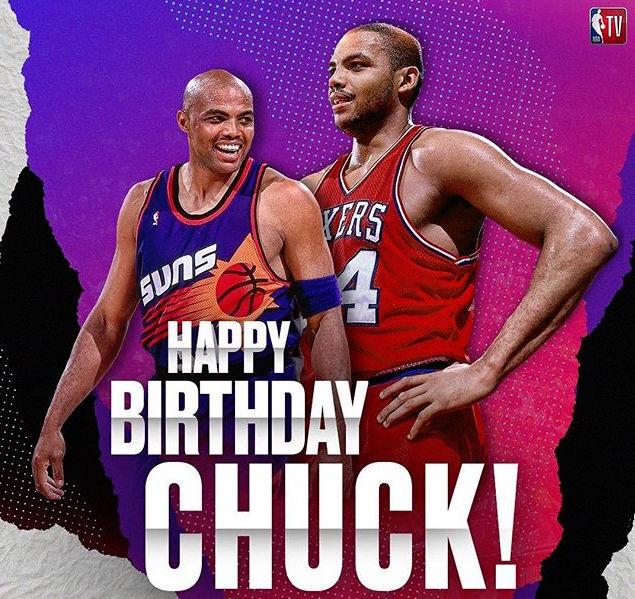 NBA官方祝查尔斯-巴克利56岁生日快乐