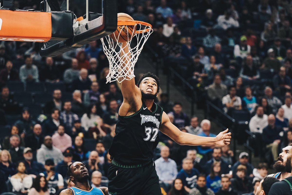 唐斯全场27投15中砍下41分14篮板带队取胜