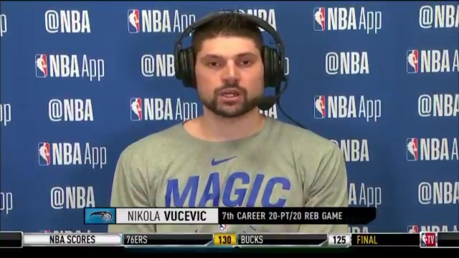 武切维奇:希望能够打进季后赛,这将对我们非常重要