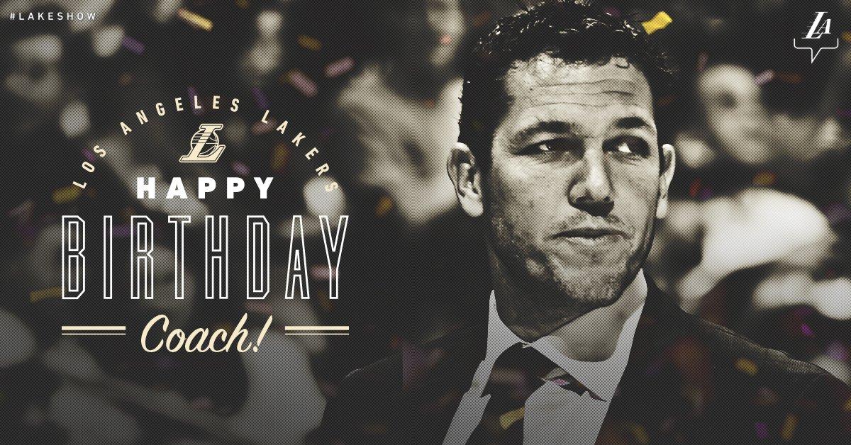 湖人官推祝卢克-沃顿39岁生日快乐