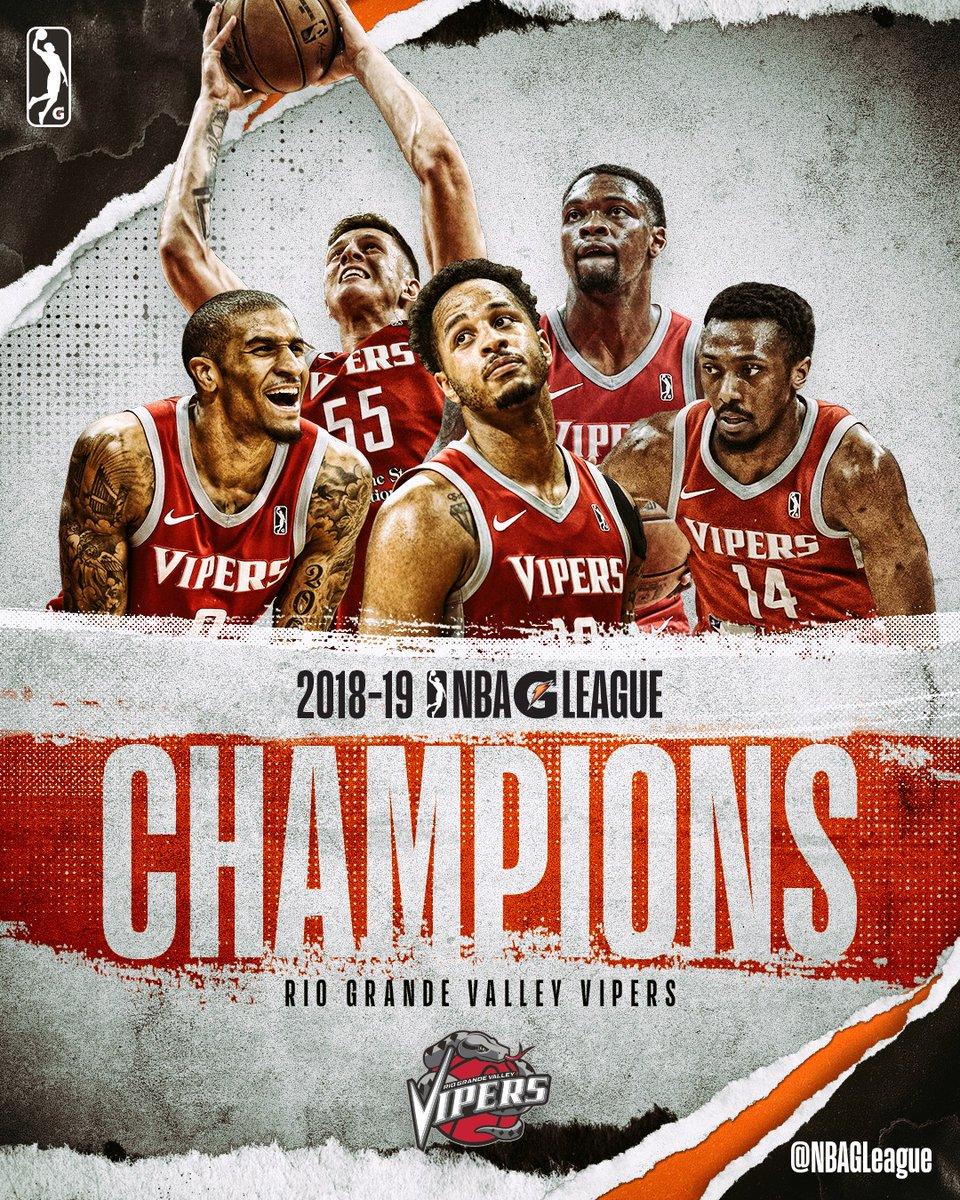 毒蛇获得2019年NBA发展联盟总冠军 NBA新闻