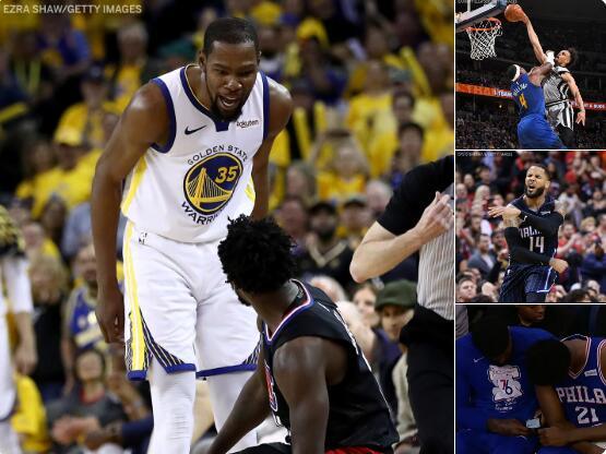 媒体发图总结今日经典瞬间:杜兰特贝弗利冲突领衔 NBA新闻 第1张