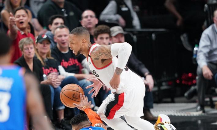 利拉德开拓者季后赛总得分超越拉希德-华莱士,升至队史第四 NBA新闻