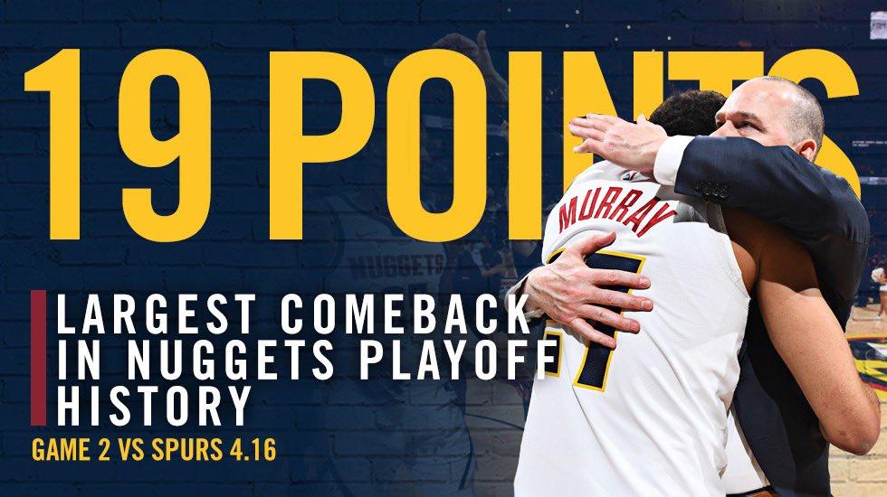 掘金完成19分大逆转,创队史季后赛纪录 NBA新闻