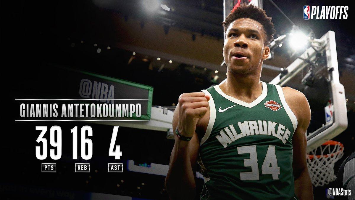 NBA官方评选今日最佳数据:字母哥39+16+4当选