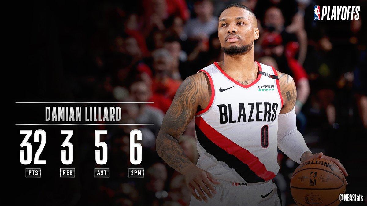 NBA官方评选今日最佳数据:利拉德32+3+5+6三分当选