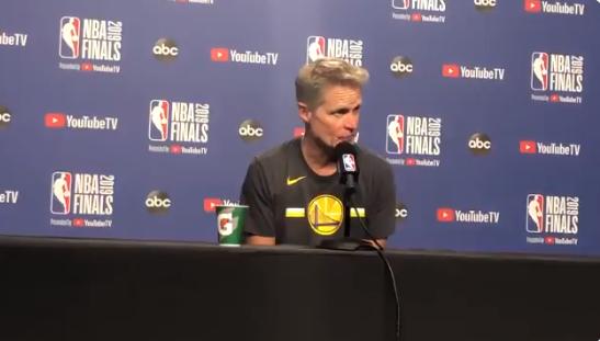 科尔:感谢猛龙球员让观众在杜兰特受伤后保持安静 NBA新闻