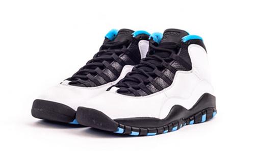 公司货 Air Jordan 10 Retro 310806-106 AJ10粉末白蓝女鞋GS