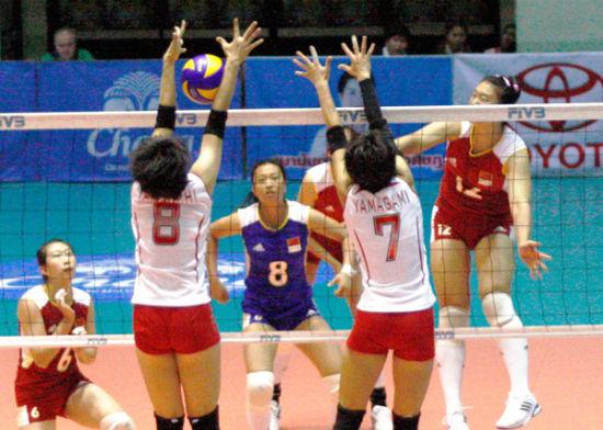 亚青赛:中国女排3-1日本晋级决赛