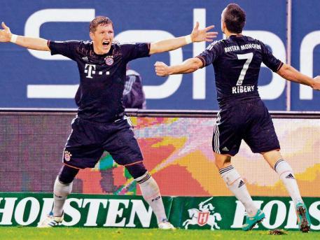 取胜汉堡拜仁继续领跑德甲