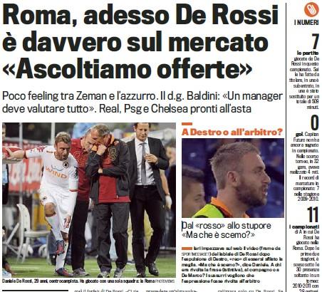 罗马高层表态德罗西不再是非卖品
