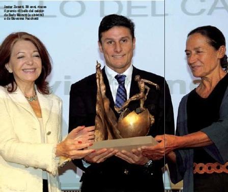 向传奇致敬!萨内蒂获2012年度法切蒂奖