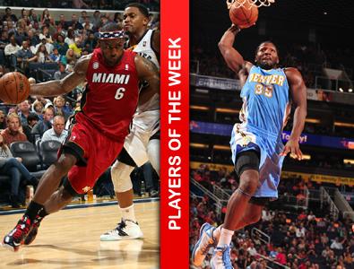 NBA上周东西部最佳:詹姆斯、法里德
