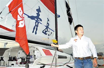 青岛郭川将挑战单人不间断环球航行