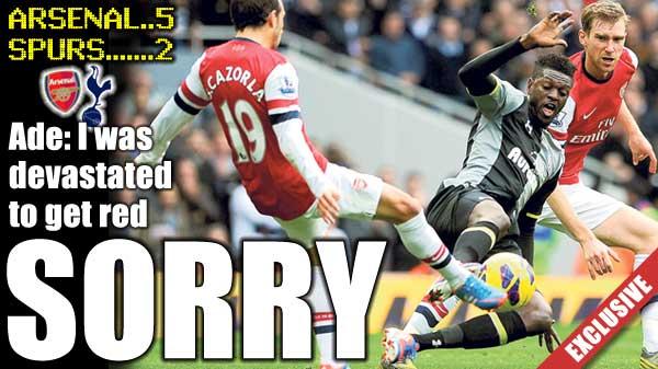阿德巴约道歉:红牌都是我的错