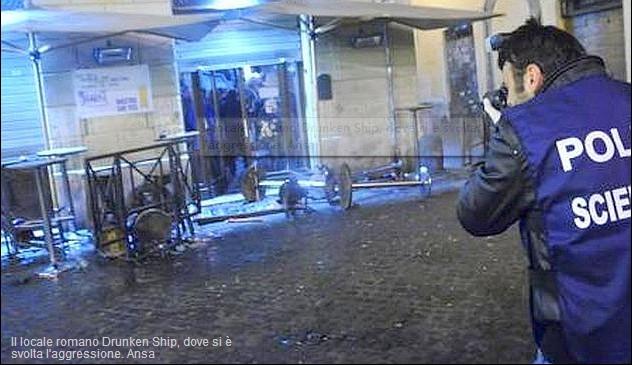 拉齐奥极端球迷酒吧攻击热刺球迷