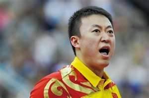 世界乒乓球团体赛:中国2-0领先世界队