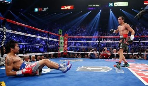 帕奎奥不敌马奎兹,生涯首遭KO