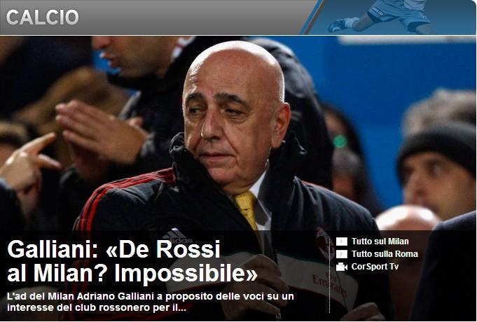 加利亚尼:德罗西来米兰?这不可能!