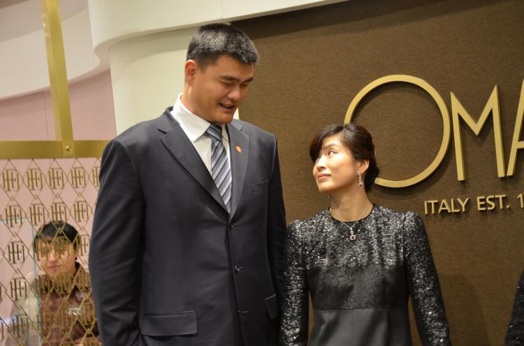 姚明携妻子出席国际特殊奥林匹克慈善活动