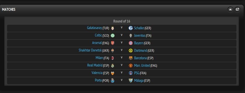 欧冠16强抽签:C罗回家!巴萨对阵米兰