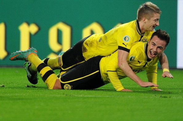 德国杯:格策帽子戏法,多特5-1汉诺威