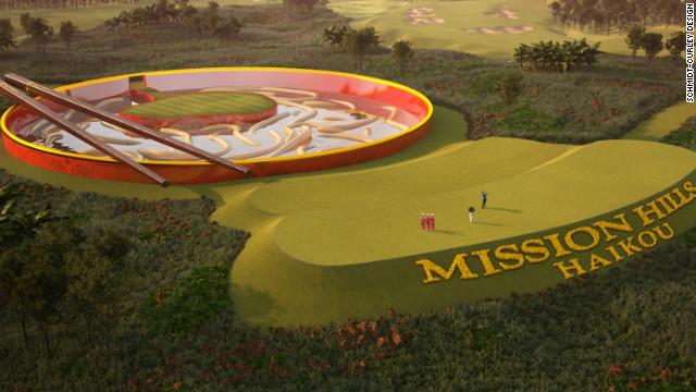 筷子夹面条?海口将建最雷高尔夫球场