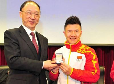 陈一冰获运动员最高嘉奖:运动员徽章