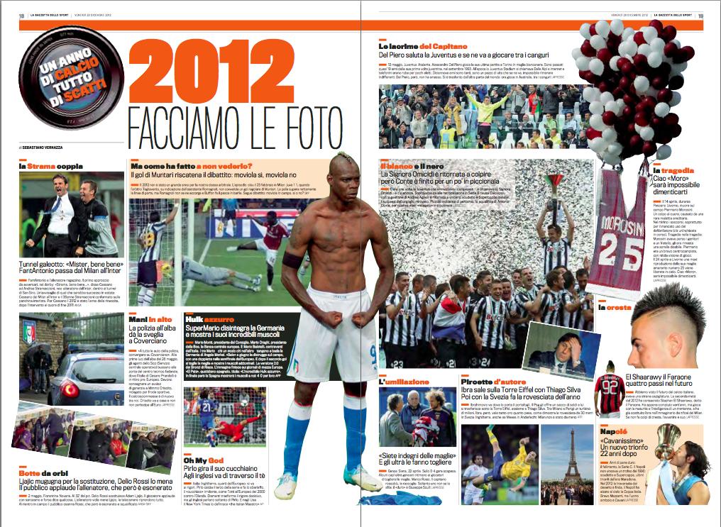 米兰体育报评2012年意大利足球几大瞬间