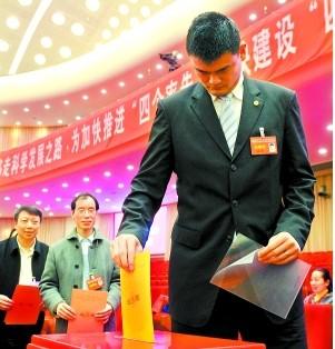 姚明当选第十二届全国政协委员