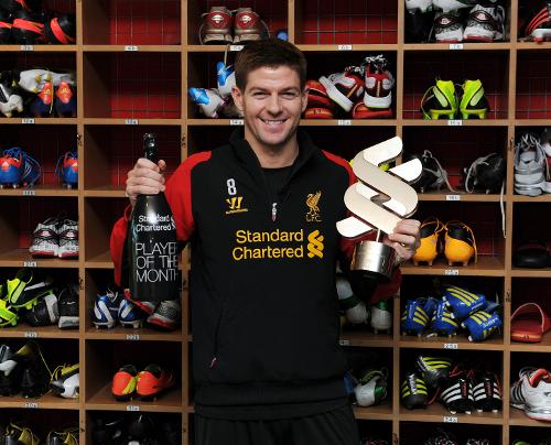 官方:杰拉德当选利物浦1月最佳球员