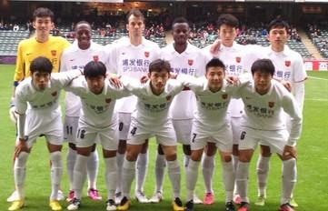 武磊破门,上海东亚4-1泰国联赛冠军
