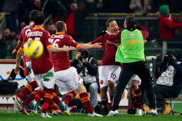 托蒂世界波,罗马1-0尤文图斯