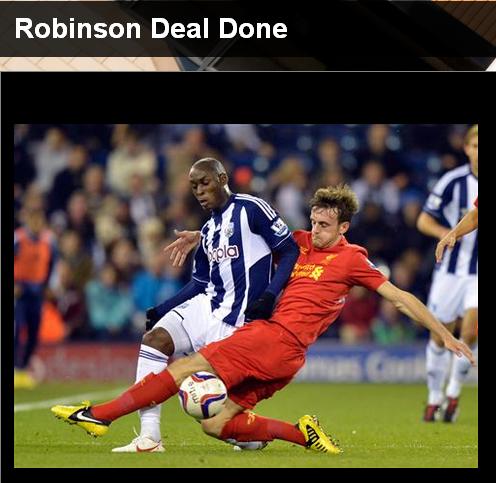 官方:利物浦左后卫罗宾逊租借加盟狼队