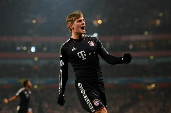 克罗斯建功穆勒传射,拜仁客场3-1阿森纳