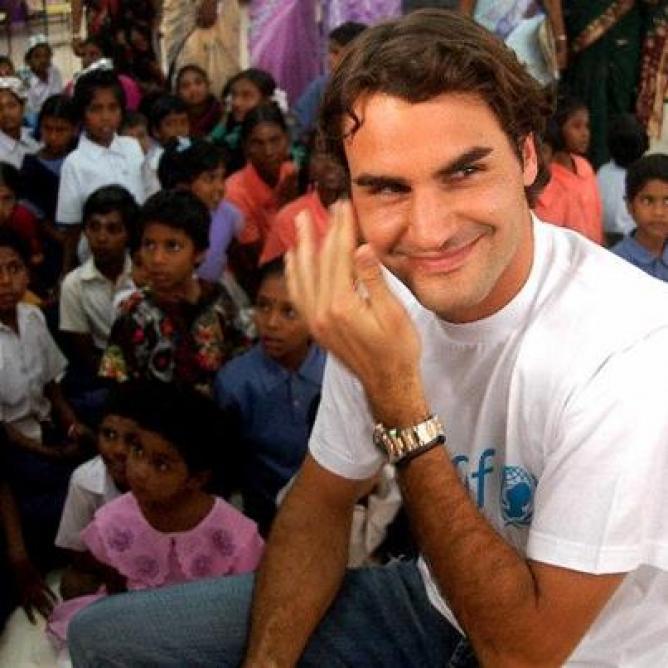 费德勒造访南非:这里的孩子需要帮助