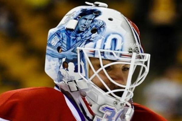 梅西人气至北美冰球界,选手头盔印梅西画像