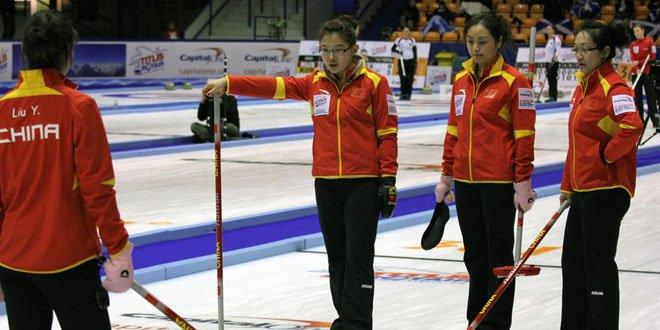 女子冰壶世锦赛中国队遭遇一日两败