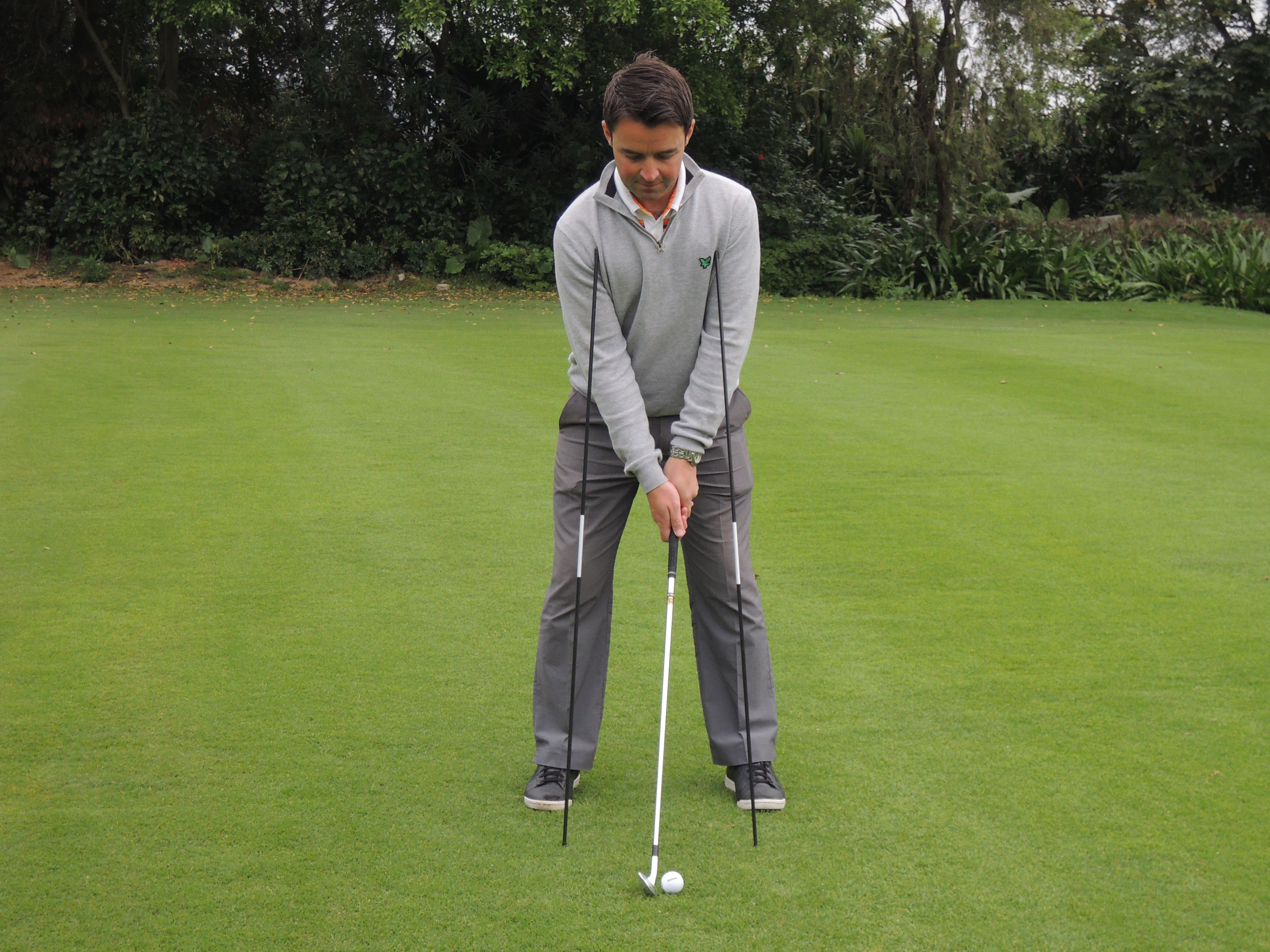 高尔夫击球前的站位和准备姿势